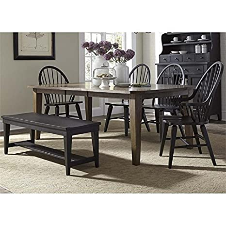 Pleasant Amazon Com Liberty Furniture Hearthstone 6 Piece Dining Set Caraccident5 Cool Chair Designs And Ideas Caraccident5Info