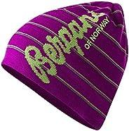 Bergans of Norway Retro Inspired Pin Stripe Wool Blend Lined Kuling Beanie Hat (Tonal Purple Striped)
