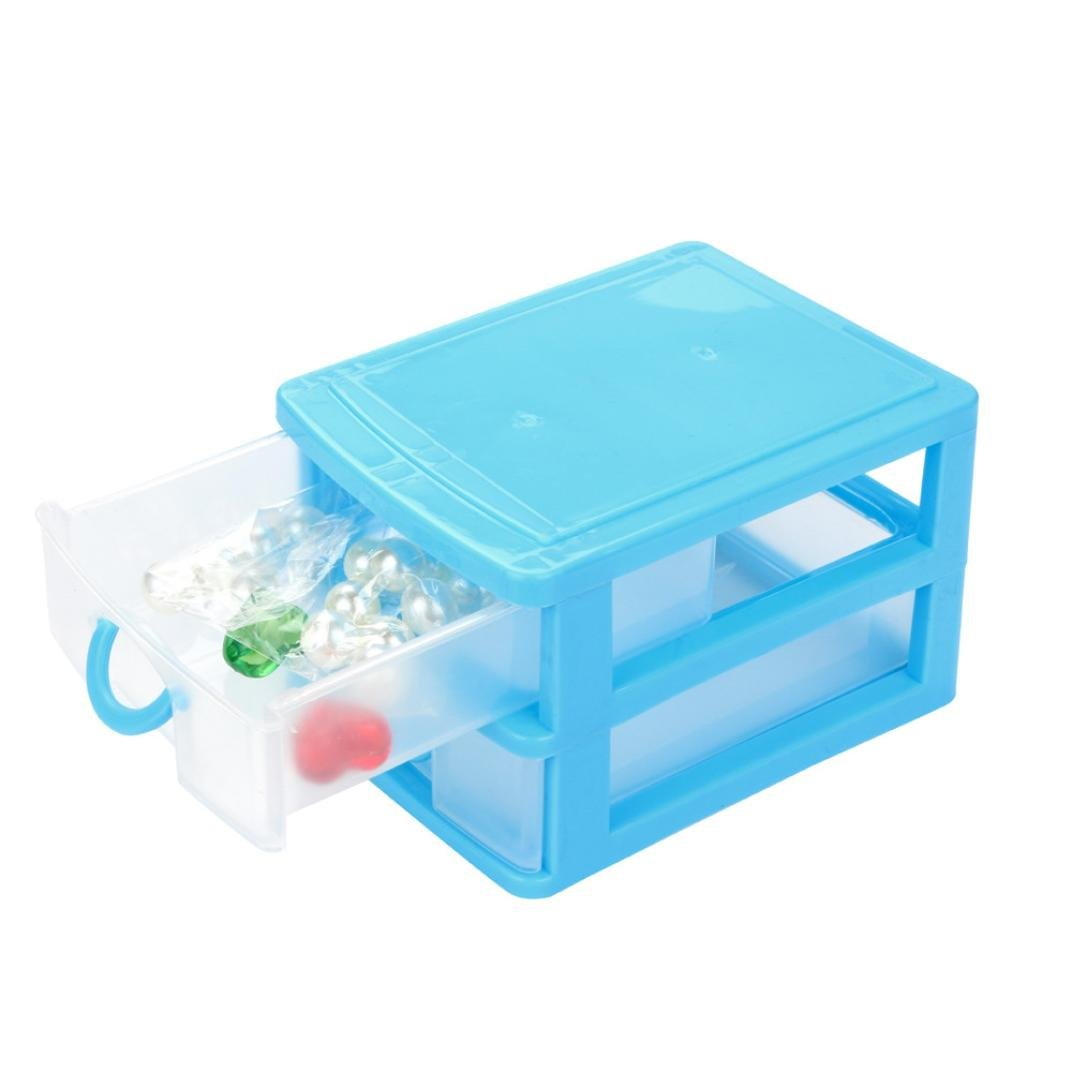 Drawer Case ,IEason Clearance Sale! Durable Plastic Mini Desktop Drawer Sundries Case Small Objects (S, Sky Blue)