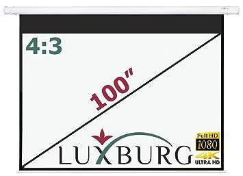 Luxburg® Pantalla de proyección a motorizada 203x152 cm (Diagonal ...