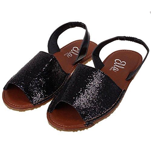 Andrea Conti 0595344 - Peep Toes para mujer, color negro, talla 36