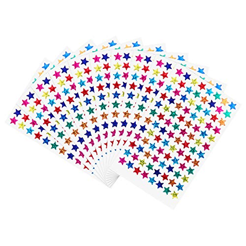 NUOLUX Pack of 960pcs 1cm Self Adhesive Assorted Colors Laser Shiny Sparkle Star Stickers Kids Students Rewards Teachers Supplies
