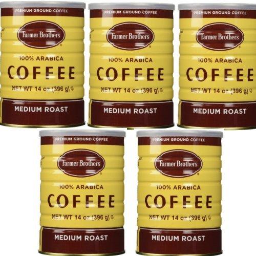 Farmer Brothers 100% Arabica Medium Roast Ground Coffee - Rainforest Alliance Certified (5-Pack)
