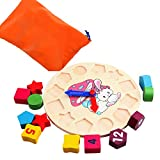 Early Educational Wooden Montessori Geometry Shape Number...