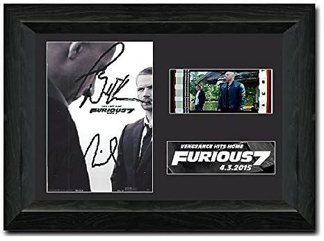 GERAHMTES Geschenke Unterzeichneten A4 Gedrucktes Autogramm Fast /& Furious Dominic Toretto Druck-Foto-Bilderanzeige HWC Trading Vin Diesel