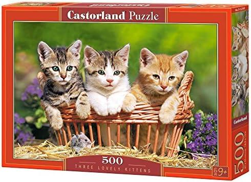 Castorland Three lovely kittens 500 pcs Puzzle - Rompecabezas ...
