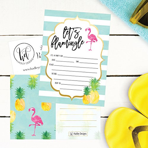 25 Flamingo Party Invitations For Kids Teens Adults Boys