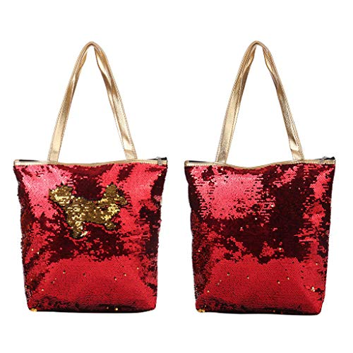 Coin Red Zipper Pouch Purse Fashion Makeup Pencil Kalttoy Storage Bag Cosmetic Case Sequins 4ZHq4z7Y