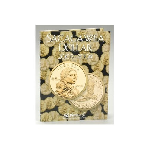 8HRS2943 Sacagawea Dollar Tri-Fold Folder 2005-2008 by Whitman Coins