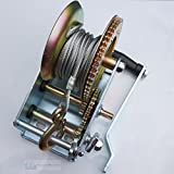 HAND GEAR WINCH 2500lbs with 10 METRE CABLE 2 SPEED For BOATS TRAILERS CARAVANS