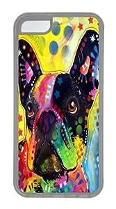 french bulldog 2 Custom iPhone 5C Case Cover TPU Transparent