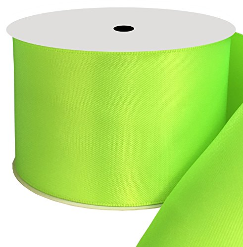 Duoqu 2 inch Wide Double Face Satin Ribbon 10 Yards Key Lime
