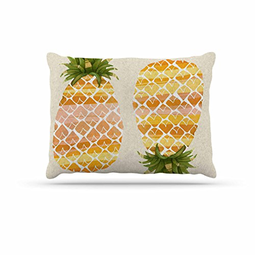KESS InHouse Judith Loske ''Happy Pineapples'' Yellow Gold Dog Bed, 30'' x 40'' by Kess InHouse