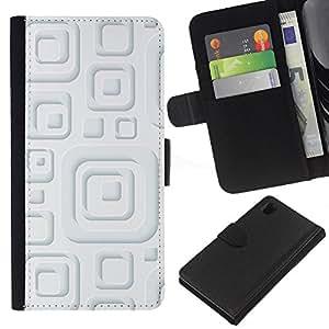 KingStore / Leather Etui en cuir / Sony Xperia Z1 L39 / Minimalista Modelo blanco