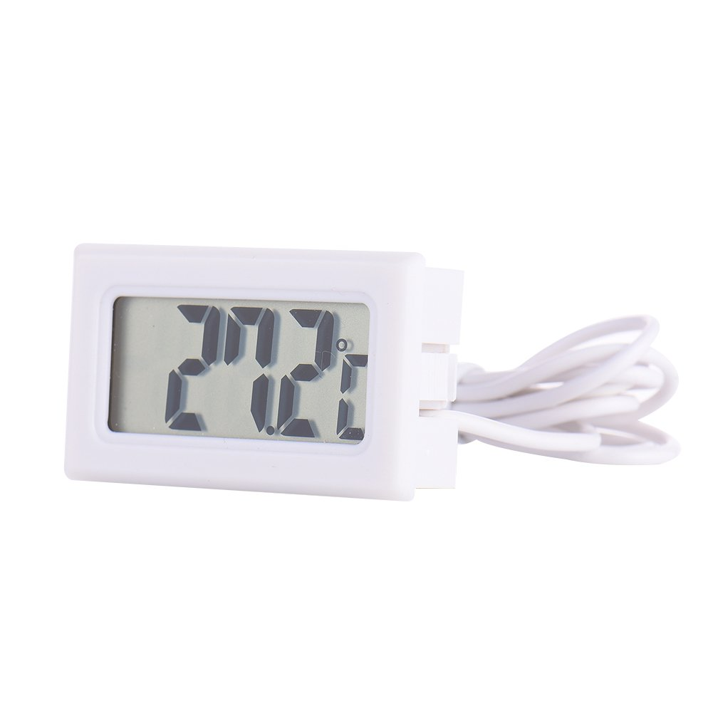 Samber Refrigerator And Fish Tank Electronic LCD Digital Thermometer,White