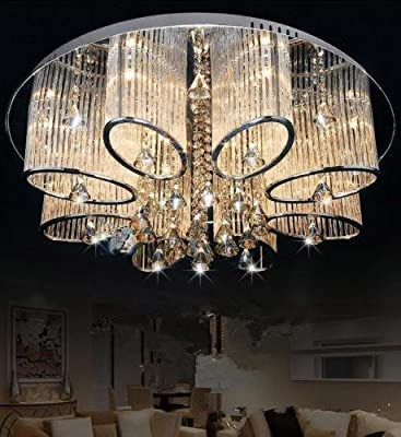 LEDVAS Modern Luxury Living Room Ceiling Lamp Fixture Crystal Chandelier Lighting
