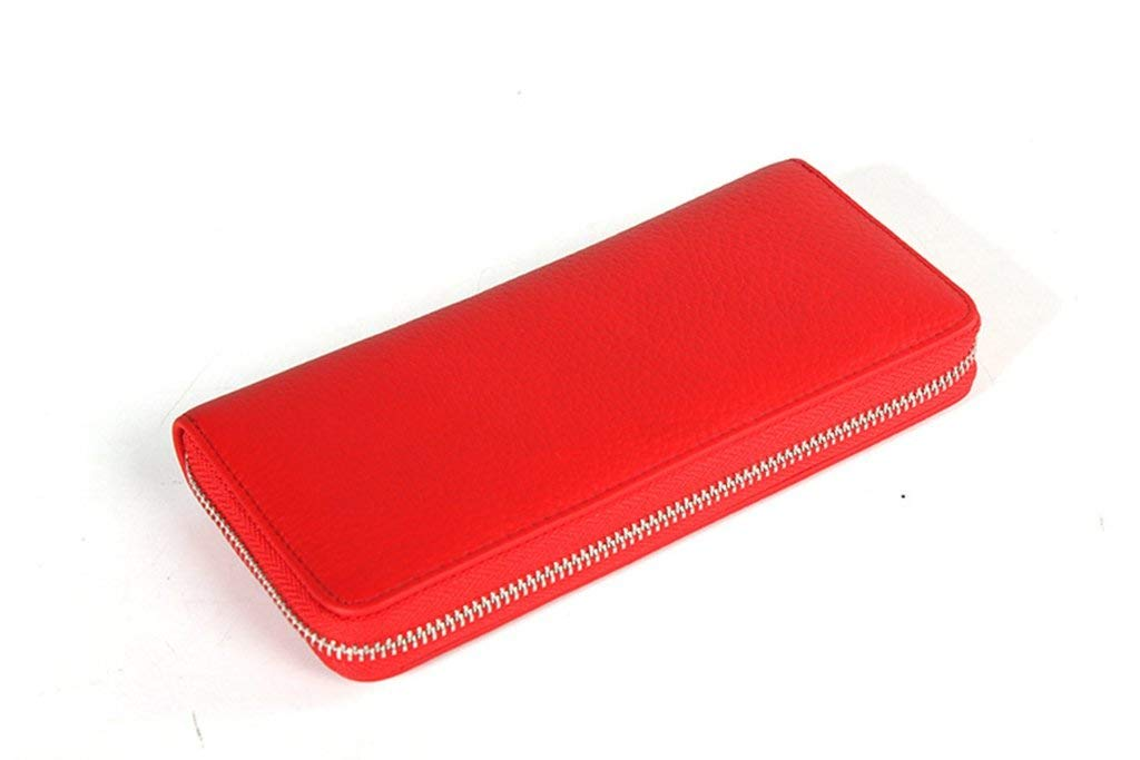 6 Soft Women's Leather Wallets RFID Blocking Vintage Design Large Capacity Handbag (color    3)
