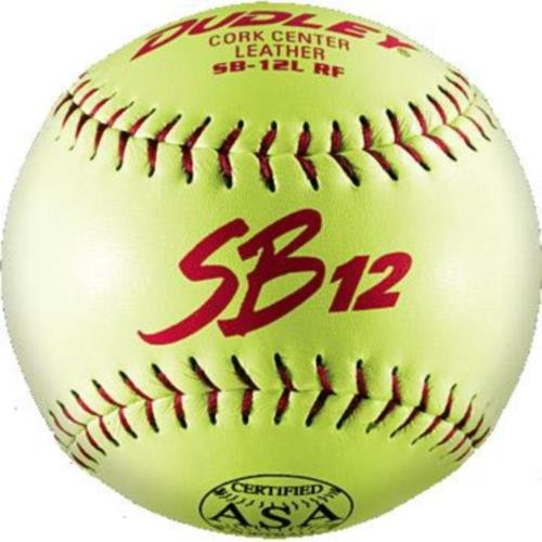 Dudley ASA SB 12L Fast Pitch Softball - Dozen by Dudley