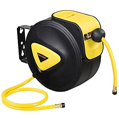 """33' x 3/8"""" Retractable Auto Rewind Air Hose Reel Wall Ceiling Mount Auto Repair Garage Automobile Assembly Tool Compressor"""