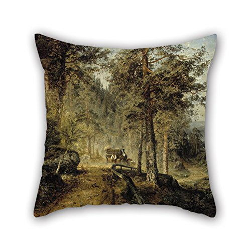 Bestseason Oil Painting Werner Holmberg - Road In Häme (A Hot Summer Day) Cushion Covers Best For Family Girls Bar Study Room Home Theater Wife 20 X 20 Inches / 50 By 50 Cm(double Sides)