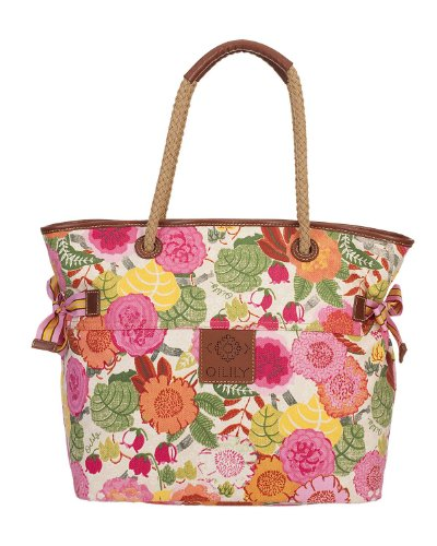 Oilily Floral World Shopper Borsa Sand Sand (Colorato)