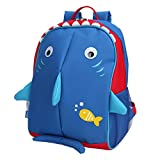Yodo Little Kids School Bag Pre-K Toddler Backpack - Name Tag and Chest Strap, Idea Gift for Halloween Day, Shark