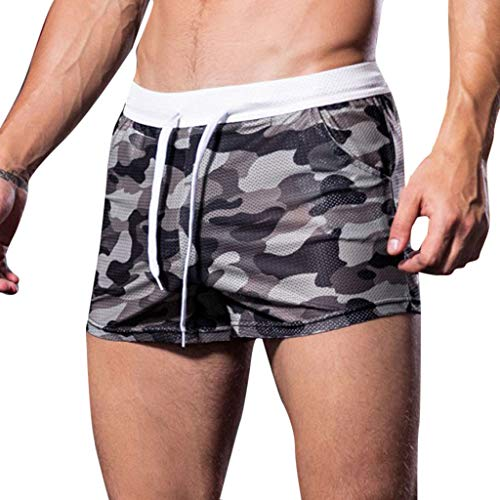 YKARITIANNA Men's Soft Pattern Summer Home Leisure Camouflage Sports Trousers Breathable Shorts ()