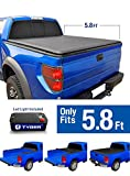 Tyger Auto TG-BC1C9006 TOPRO Roll Up Truck Bed Tonneau Cover 2014-2018 Chevy Silverado / GMC Sierra 1500 | Fleetside 5.8' Bed | For models without Utility Track System