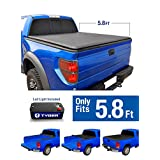 Tyger Auto TG-BC1C9006 TOPRO Roll & Lock Truck Bed Tonneau Cover 2014-2018 Chevy Silverado / GMC Sierra 1500 | Fleetside 5.8' Bed | For models without Utility Track System