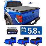 Tyger Auto TG-BC1C9006 TOPRO Roll Up Truck Bed Tonneau Cover 2014-2018 Chevy Silverado/GMC Sierra 1500 | Fleetside 5.8' Bed | For models without Utility Track System