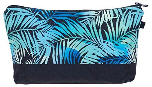Kukubird Diversión Nueva Imagen Animal Patrón Grabado Neceser Con Bolsa De Polvo De Kukubird Blue Palm