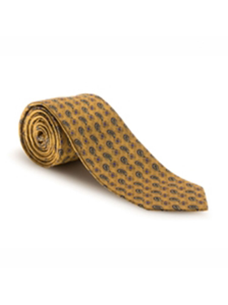 Robert Talbott Yellow, Lavender and Blue Medallion Heritage Best of Class Tie