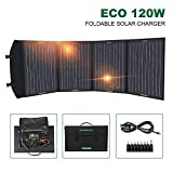 ECO-WORTHY 120W Foldable Solar Panel Charger for Portable Generator with 10A Controller DC Output Charger for Camping, Caravan, Motorhome Rallies, Trade Shows, Mobile Offices 12V System