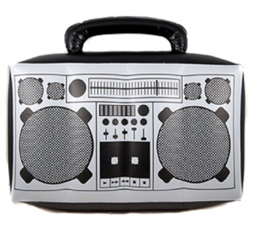 Thug Costume For Girls (Inflatable Boom Box Novelty Prop)