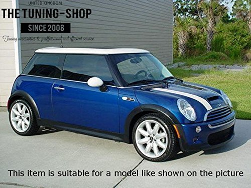 The Tuning-Shop Ltd For Mini Cooper R50 R53 S-One 2001-2006 Shift /& E Brake Boot Black Leather British Flag Embroidery Edition