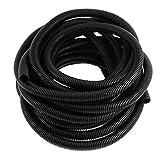 eDealMax 17mmx21.2mm Flexible corrugado Conducto Tubo Tubo Manguera Wire 10M 33 pies