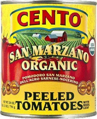 San Marzano Cento Organic Italian Peeled Tomatoes, Case of 4 /28 oz by Cento (Solania San Marzano Tomatoes compare prices)