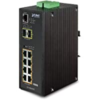 PLANET IGS-10020HPT / Industrial 8-Port 10/100/1000T 802.3at PoE + 2-Port 100/1000X SFP Managed Switch with Wide Operating Temperature