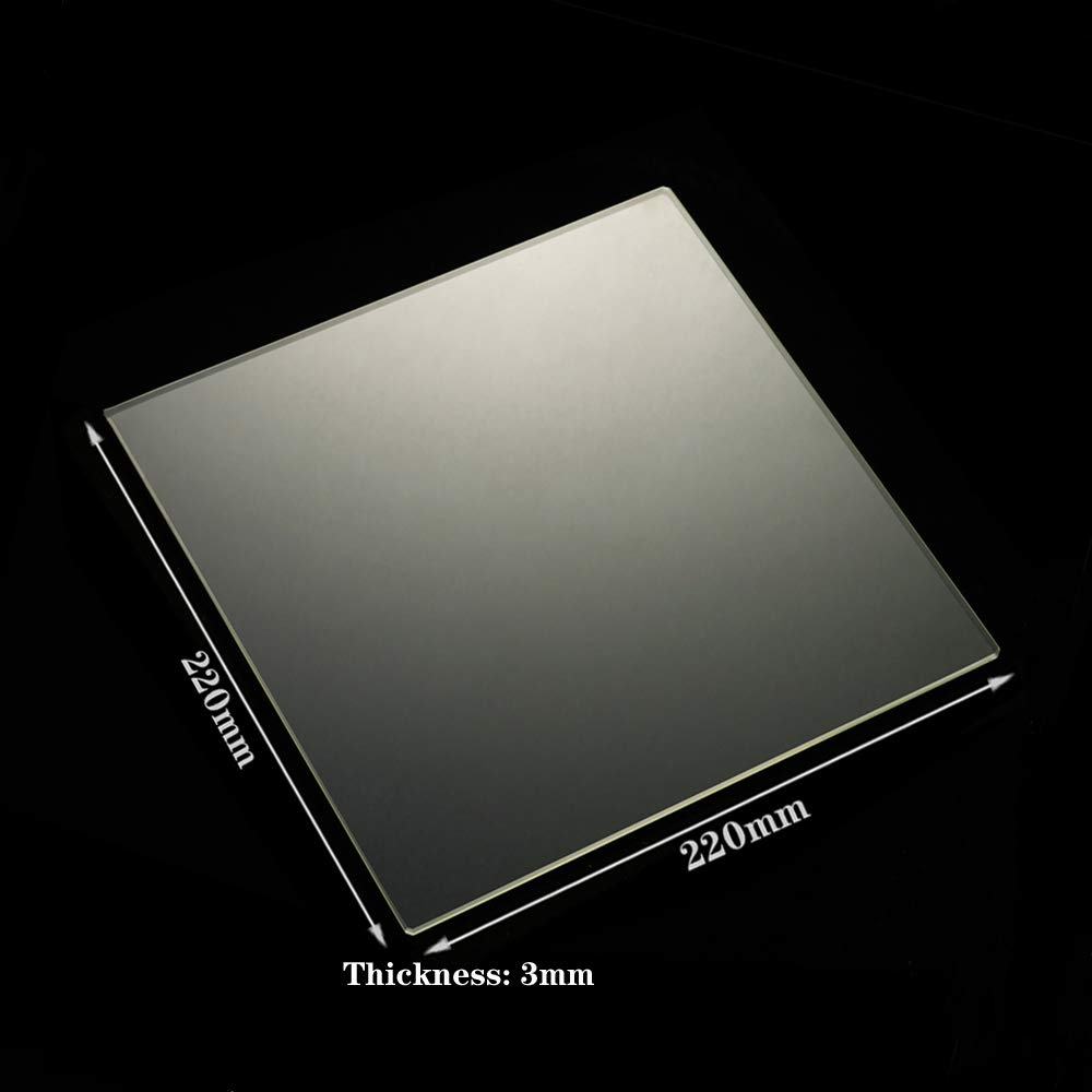 300x300x3mm Square 3D Printer Borosilicate Glass Build Plate 300mm x 300mm x 3mm for 3D Printer Heated Bed