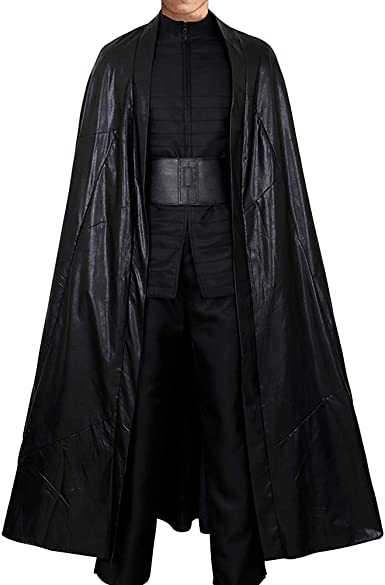 Cg Costume Men S Kylo Ren Costume Long Robes The Last Jedi Outfit Halloween Clothing