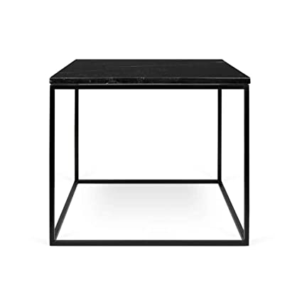 Amazon Com Temahome Gleam 20 X20 Marble Side Table Brown