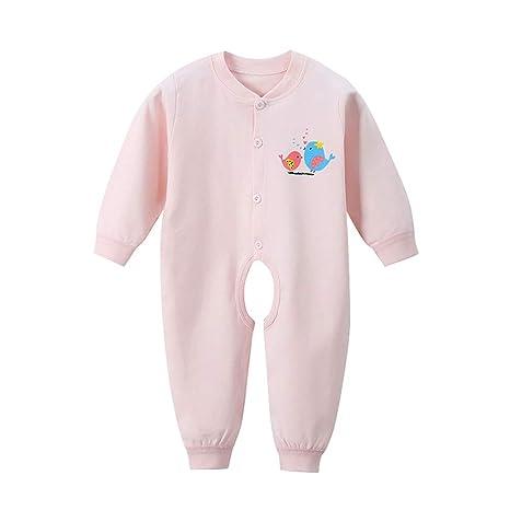ViewHuge bebé recién nacido algodón manga larga pijama para dormir para niños niñas rosa rosa Talla