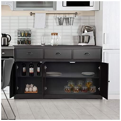 Kitchen Giantex Sideboard Buffet Server Storage Cabinet Console Table Home Kitchen Dining Room Furniture Entryway Cupboard with… modern buffet sideboards