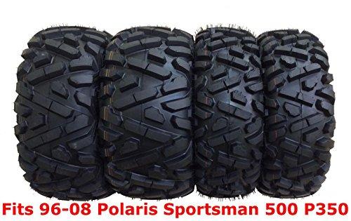 Set 4 WANDA ATV tires 25x8-12 & 25x11-10 for 96-08 Polaris Sportsman 500 P350 (6 Ply Vs 8 Ply Trailer Tires)