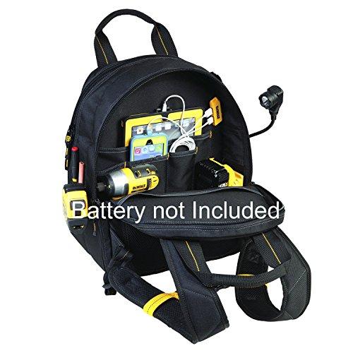 DEWALT DGCL33 33-Pocket Lighted USB Charging Tool Backpack