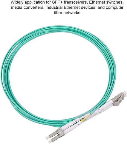 LWL Glasfaser Patchkabel 15m MEHRWEG LC zu LC OM3 Multimode Duplex 50//125 Glasfaserkabel f/ür 10Gb//Gigabit SFP Transceiver