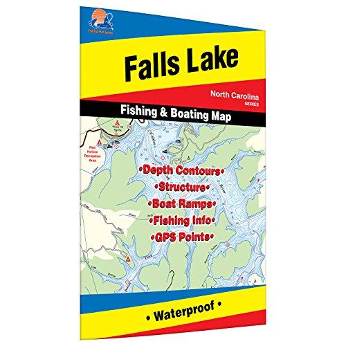 Falls Lake Fishing Map