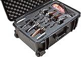 Case Club Waterproof 7 Revolver/Semi-Auto Case with Accessory Pocket & Silica Gel to Help Prevent Gun Rust