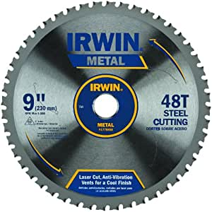 Irwin Tools Metal Cutting Circular Saw Blades 9 Inch 48t