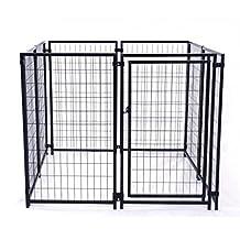 ALEKO 5-Feet X 5-Feet X 4-Feet Dog Kennel Heavy Duty Pet Playpen Dog Exercise Pen Cat Fence